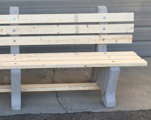 Groovy Iroc Benches Concrete Wood Park Benches Redi Mix Services Beatyapartments Chair Design Images Beatyapartmentscom