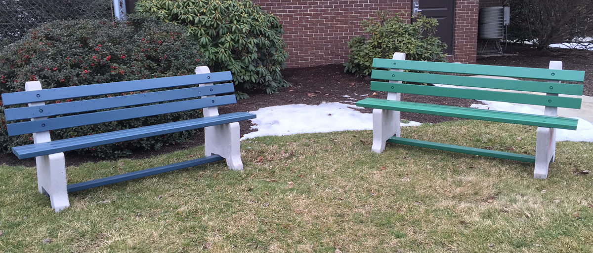 Iroc Benches Concrete Wood Park Benches Redi Mix Services